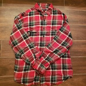 Men's RALPH LAUREN Polo Black Red Plaid Flannel